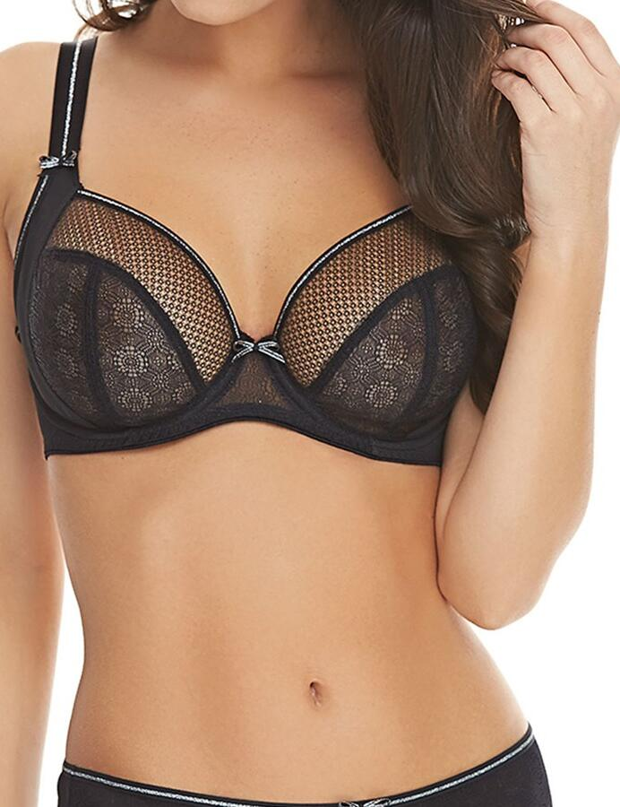 Freya Hero: Side Support Plunge Bra - Black