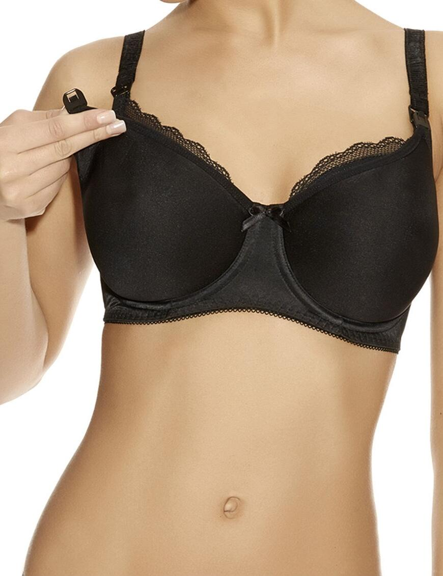 Freya Pure : Moulded Underwired Nursing Bra - Black