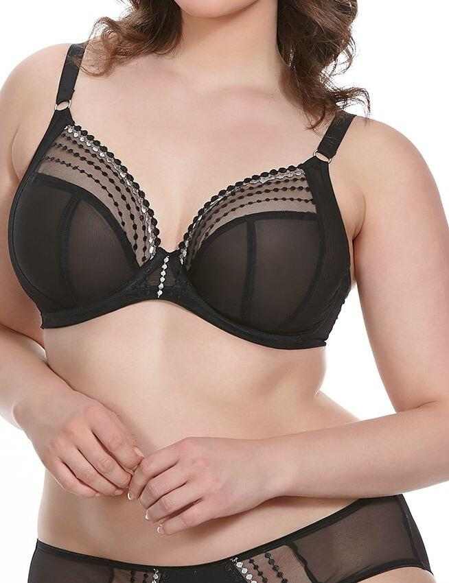 Elomi Matilda: Plunge Bra- 20% Off use Code TWENTY at Checkout - Black