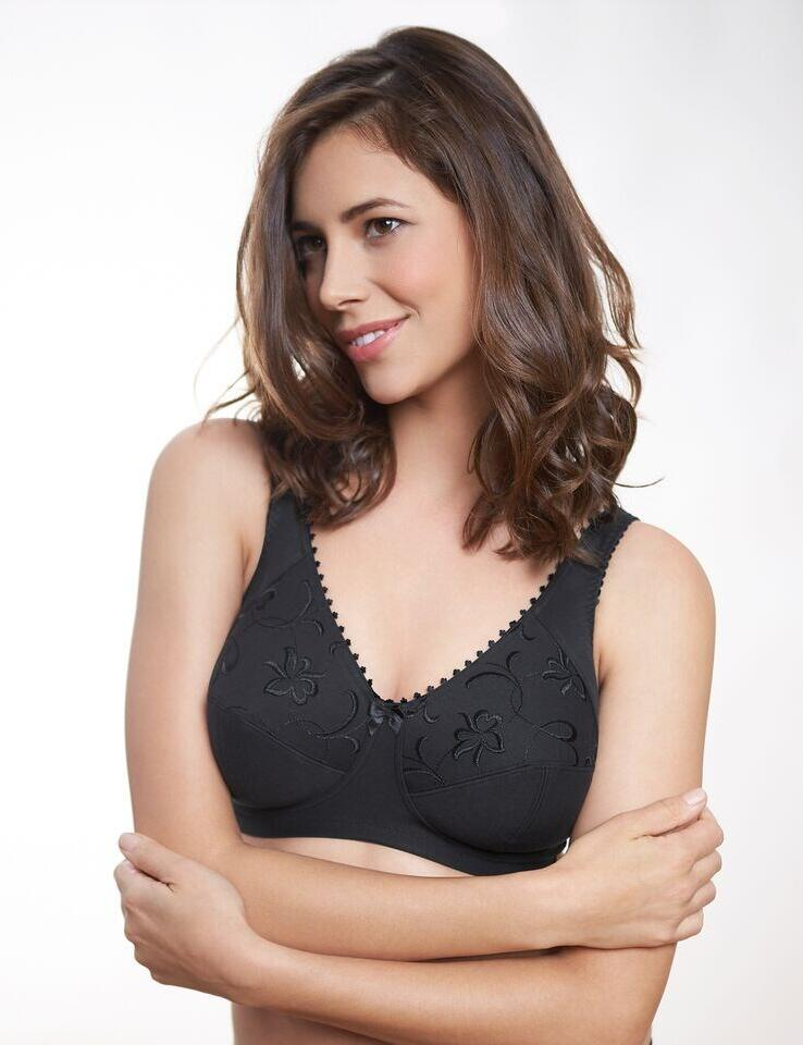 Royce: Grace Bra non- wired High Cotton Content - Black