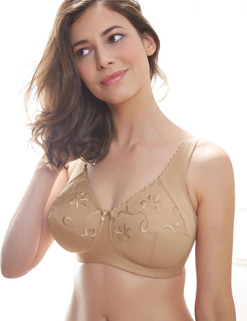 Royce Grace : Non-wired High Cotton Content Bra - Skin