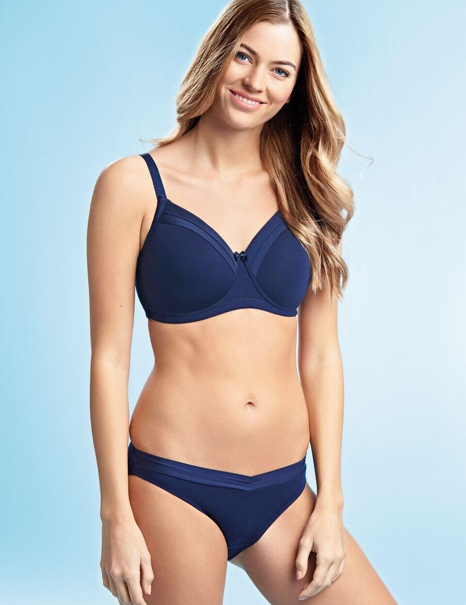 Royce: Maisie non-wired T-Shirt Bra - Navy