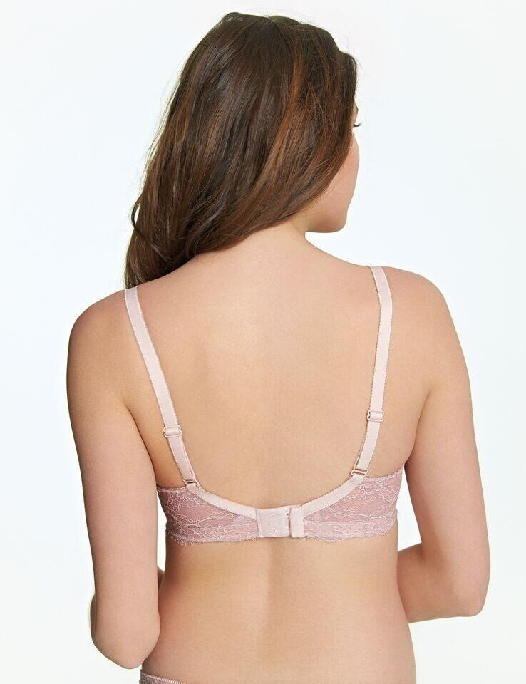 Royce: English Rose non-wired Moulded Bra - Cream Floral