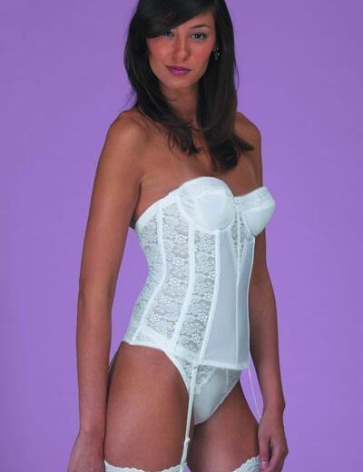 Dominique 8949 Basque Lace - White