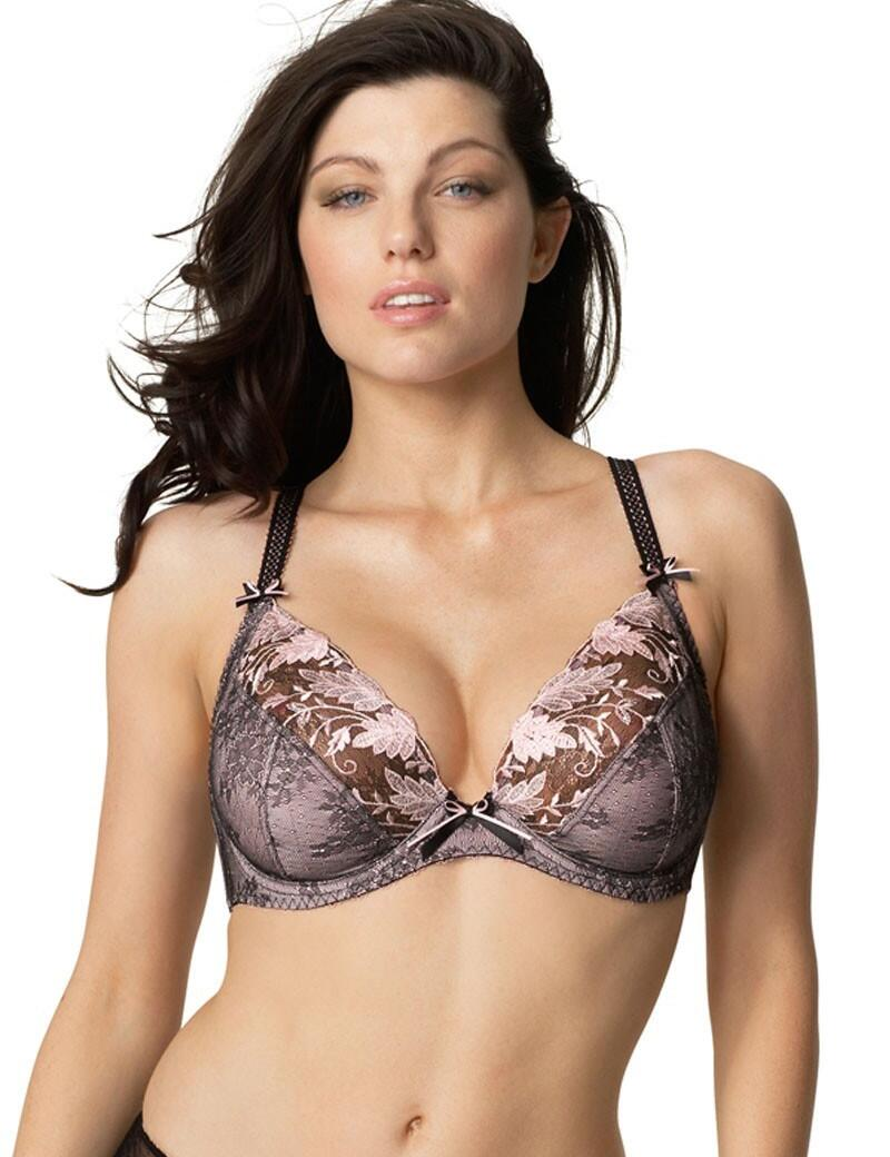 Fantasie Savannah : Side Support Plunge Bra-OUTLET - Black