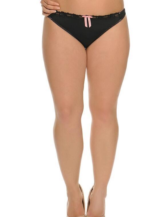 Curvy Kate Lottie : Thong: Outlet - Black