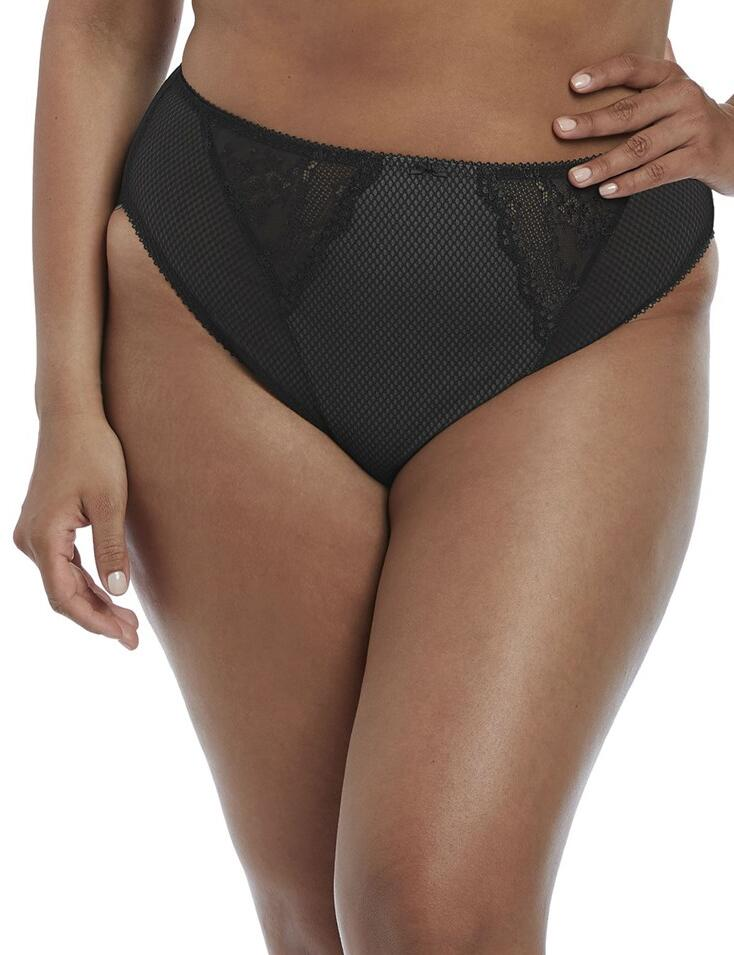 Elomi Charley: High Leg Brief - Black