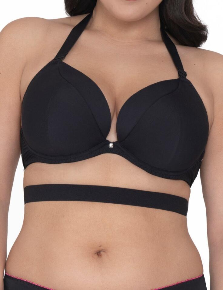 Curvy Kate Superplunge Multiway: Padded Plunge Bra CK022107 - Black