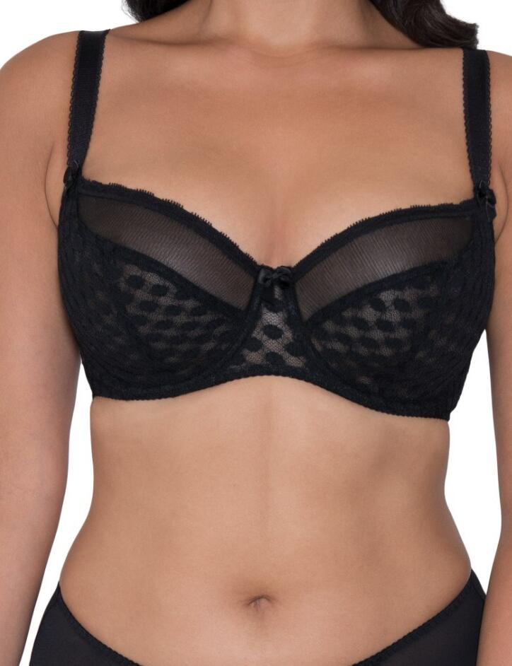 Curvy Kate Dottie : Balcony Bra - Black