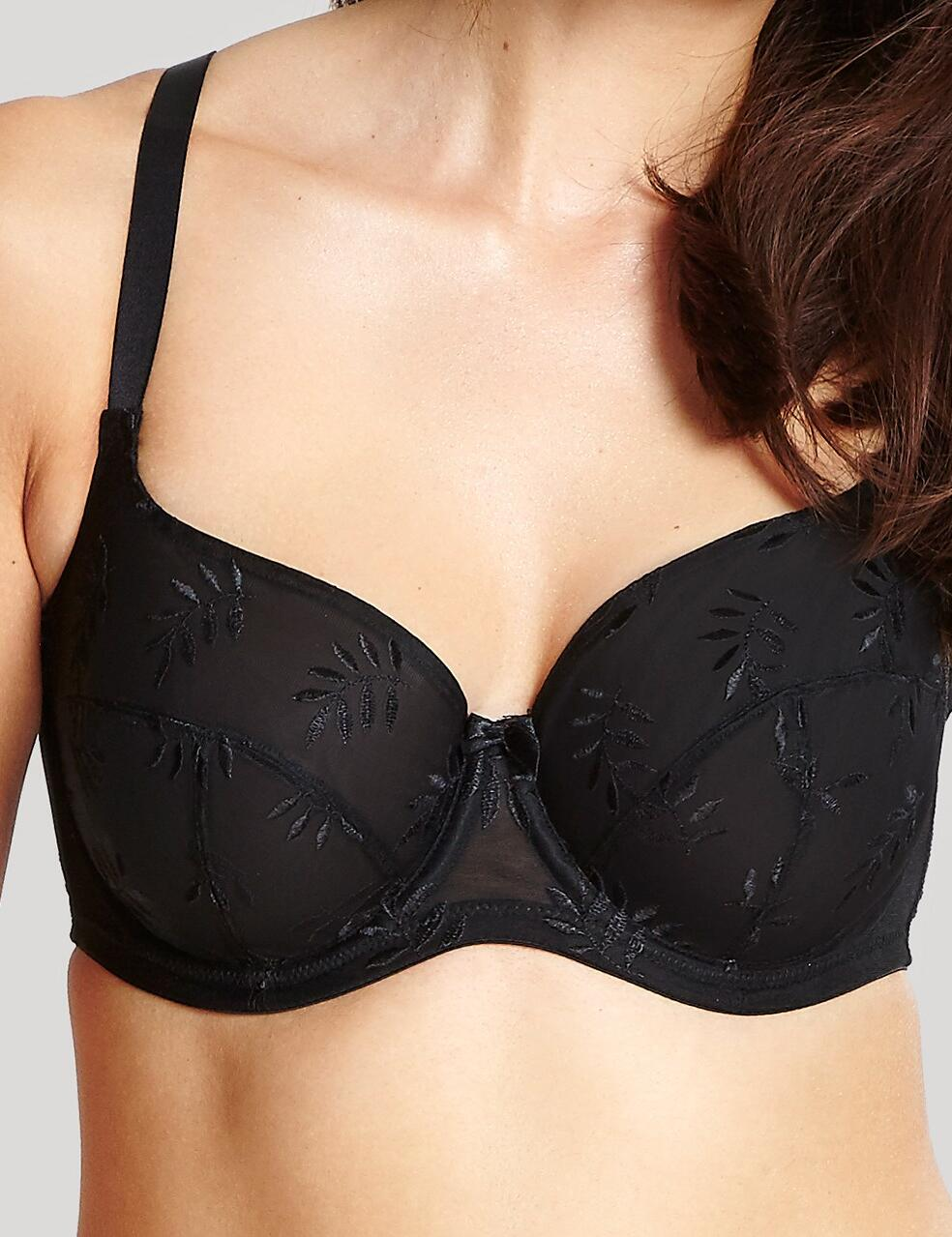 Panache Tango : Underwired Balconette Bra: 3251 - Black