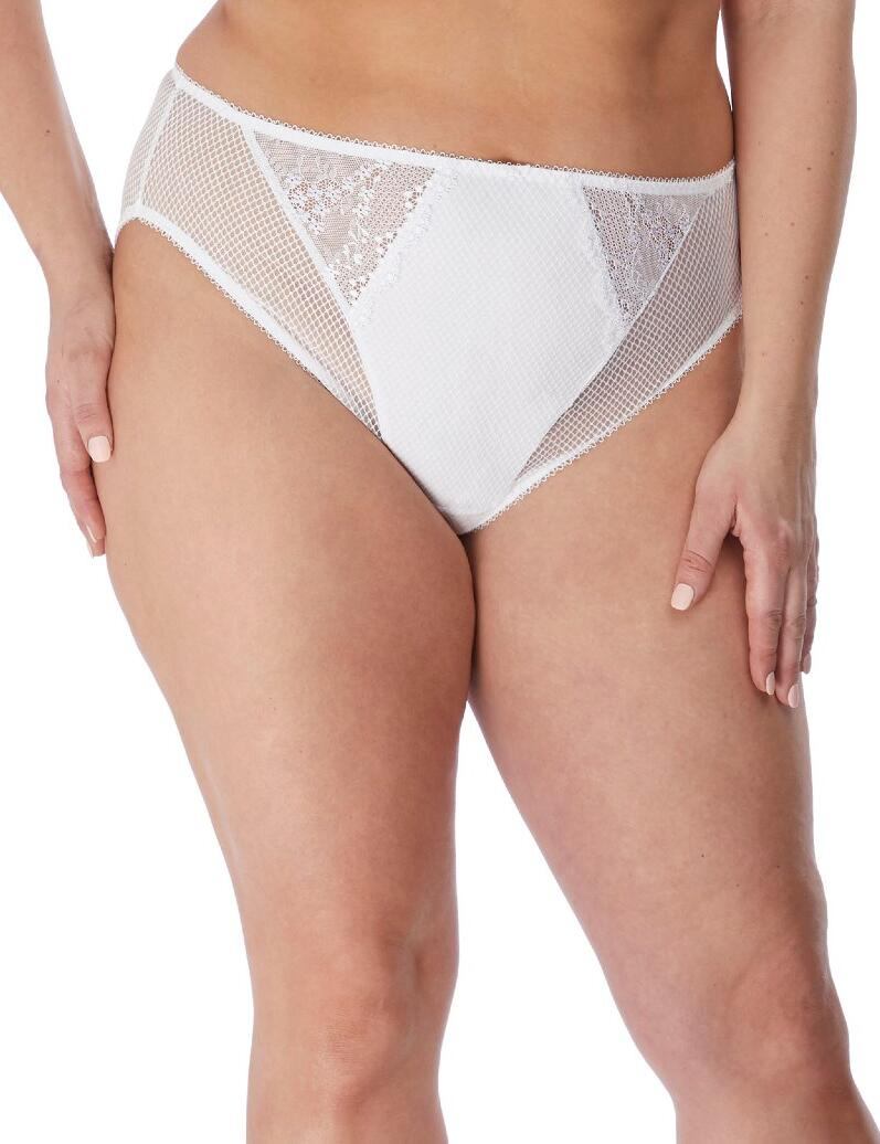 Elomi Charley: High Leg Brief - White