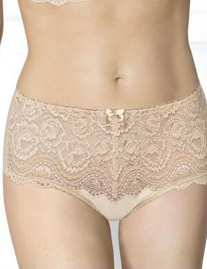 Playtex Flower Lace: Midi Brief - Skin