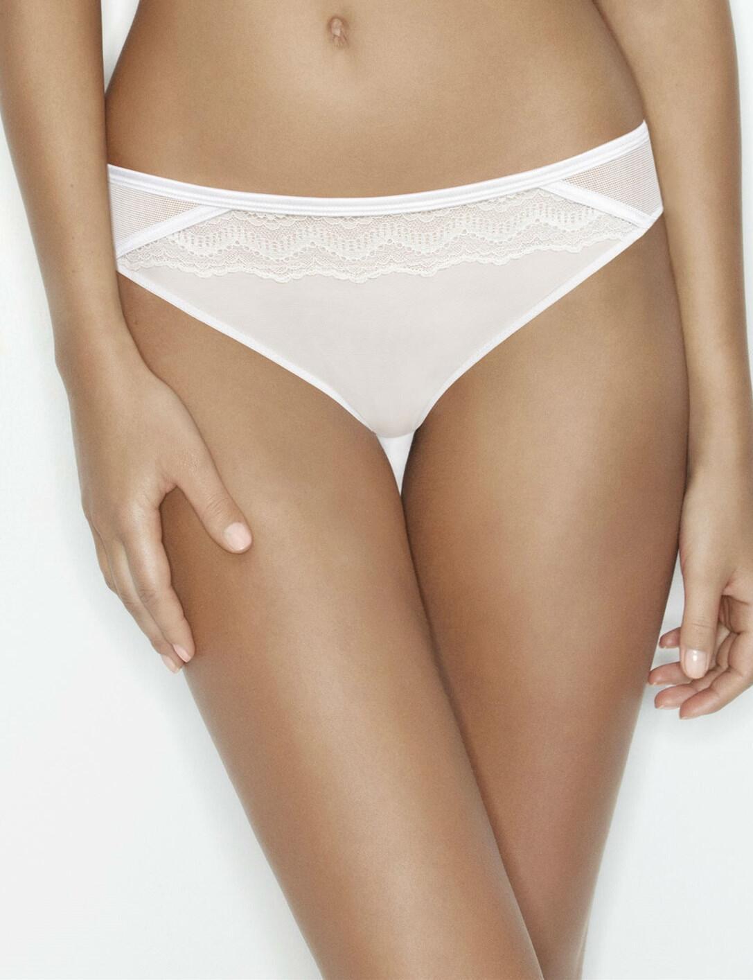 Wonderbra My Pretty Push Up : Lace Brazilian - White