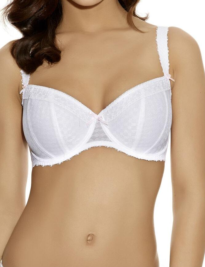 Freya Rapture: Padded Half Cup Bra 50% OFF - white