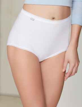 Playtex Pure Cotton : Maxi Brief, 3 Pack P00BQ - White