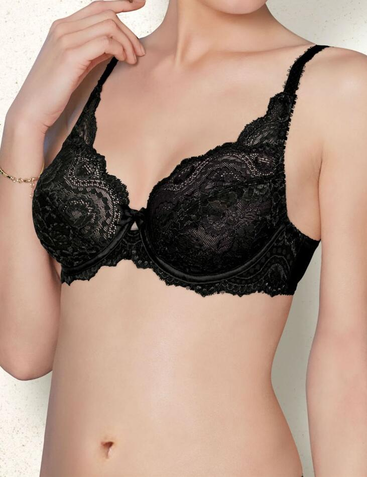 Playtex Flower Lace : Underwired P5832 - Black
