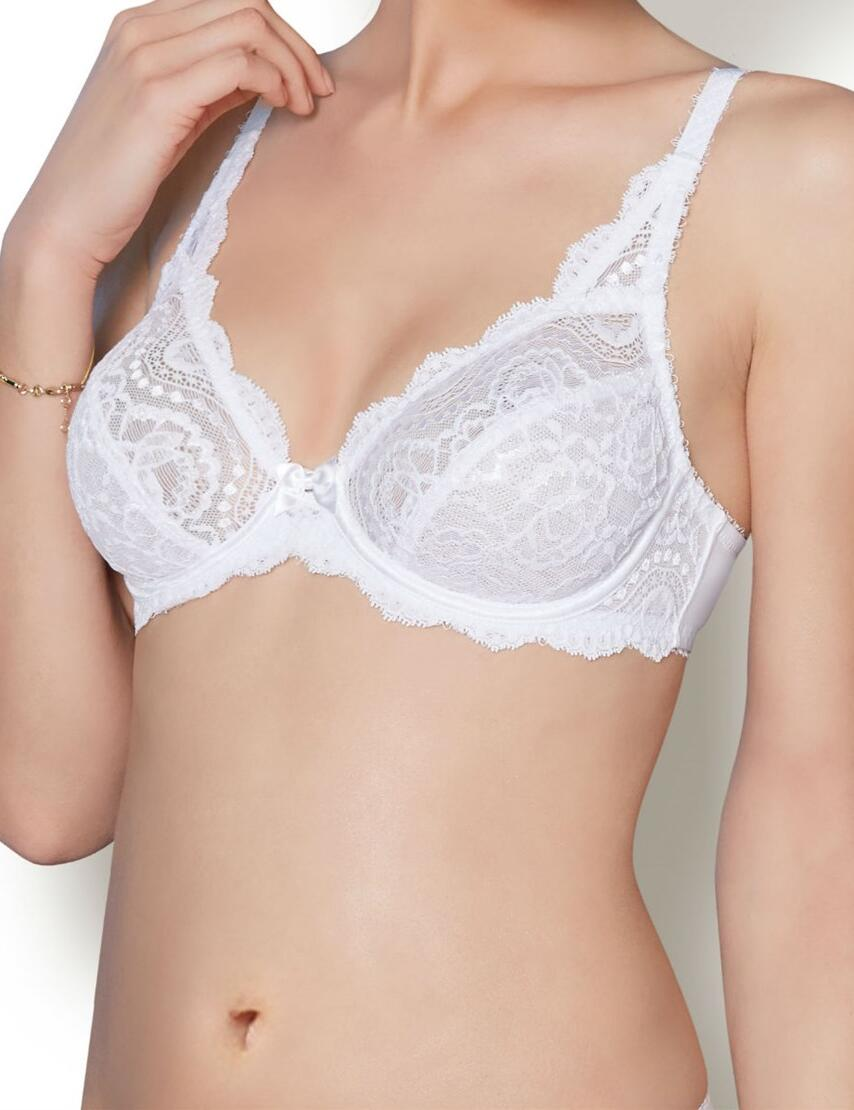 Playtex Flower Lace : Underwired P5832 - White