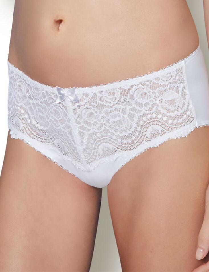 Playtex Flower Lace: Midi Brief - White