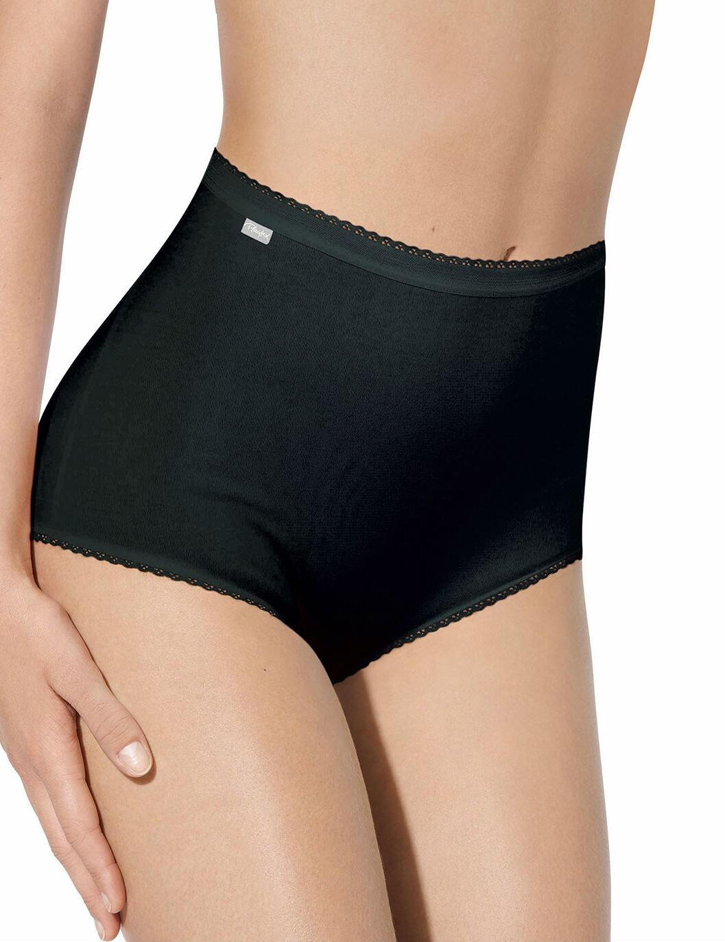 Playtex Pure Cotton: Maxi Brief, 3 Pack P00BQ - Black