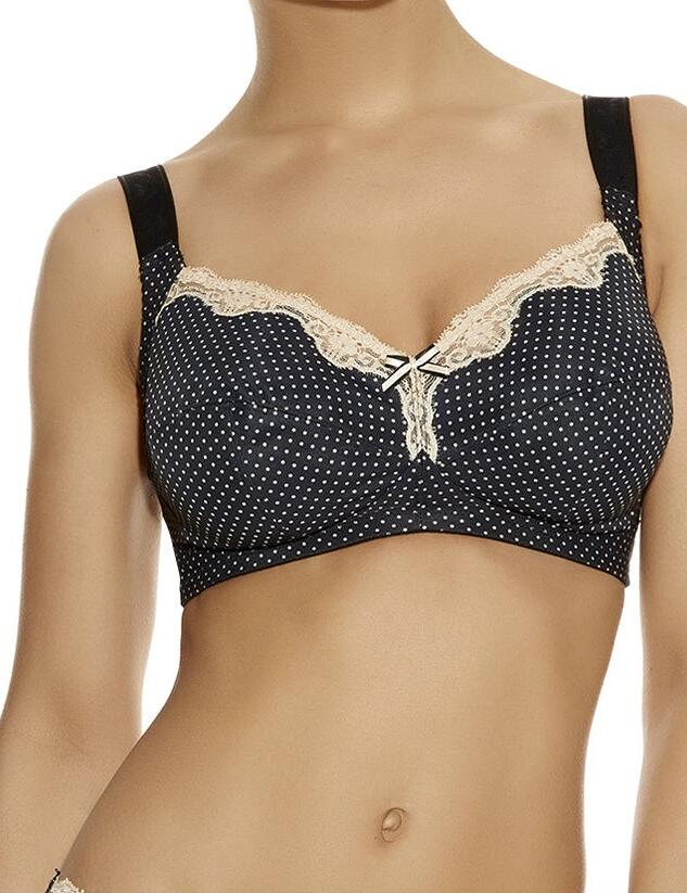 Freya Dotty : Soft Cup Bra - Black