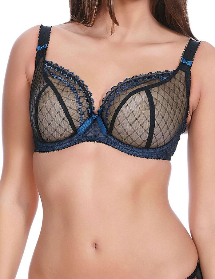 Freya Pulse : Plunge Balcony Bra - Black