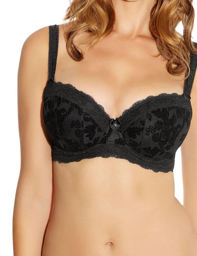 Fantasie Mae : Underwired Padded Half Cup - Black