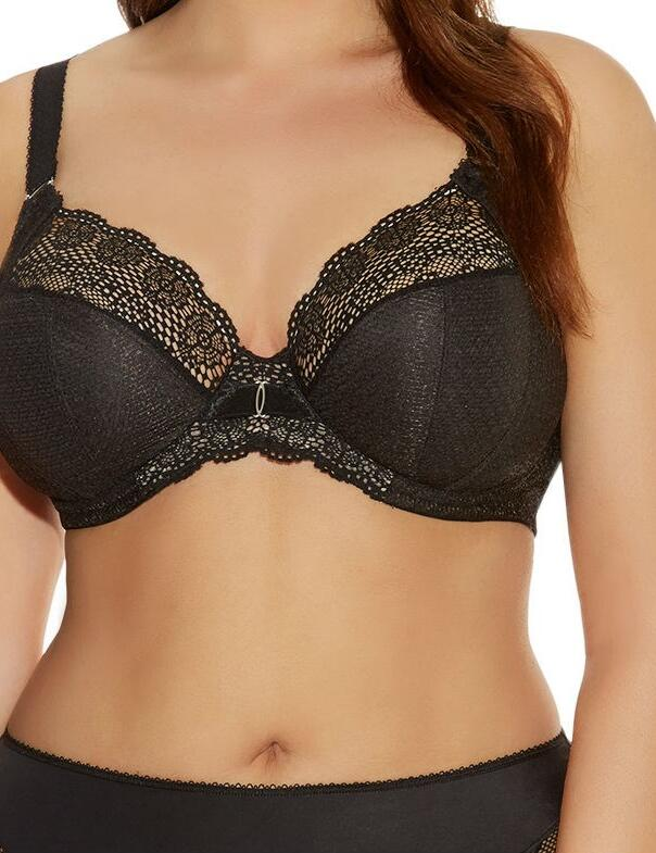 Elomi Carmen : Plunge Bra-stretch - Black