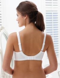 Royce Grace : Non-wired High Cotton Content Bra - White