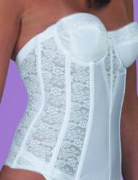 Dominique 8949 Basque Lace - White
