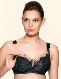 Freya Dotty : Soft Cup Nursing Bra - Black