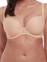 Freya Cameo: Moulded Plunge bra - Sand