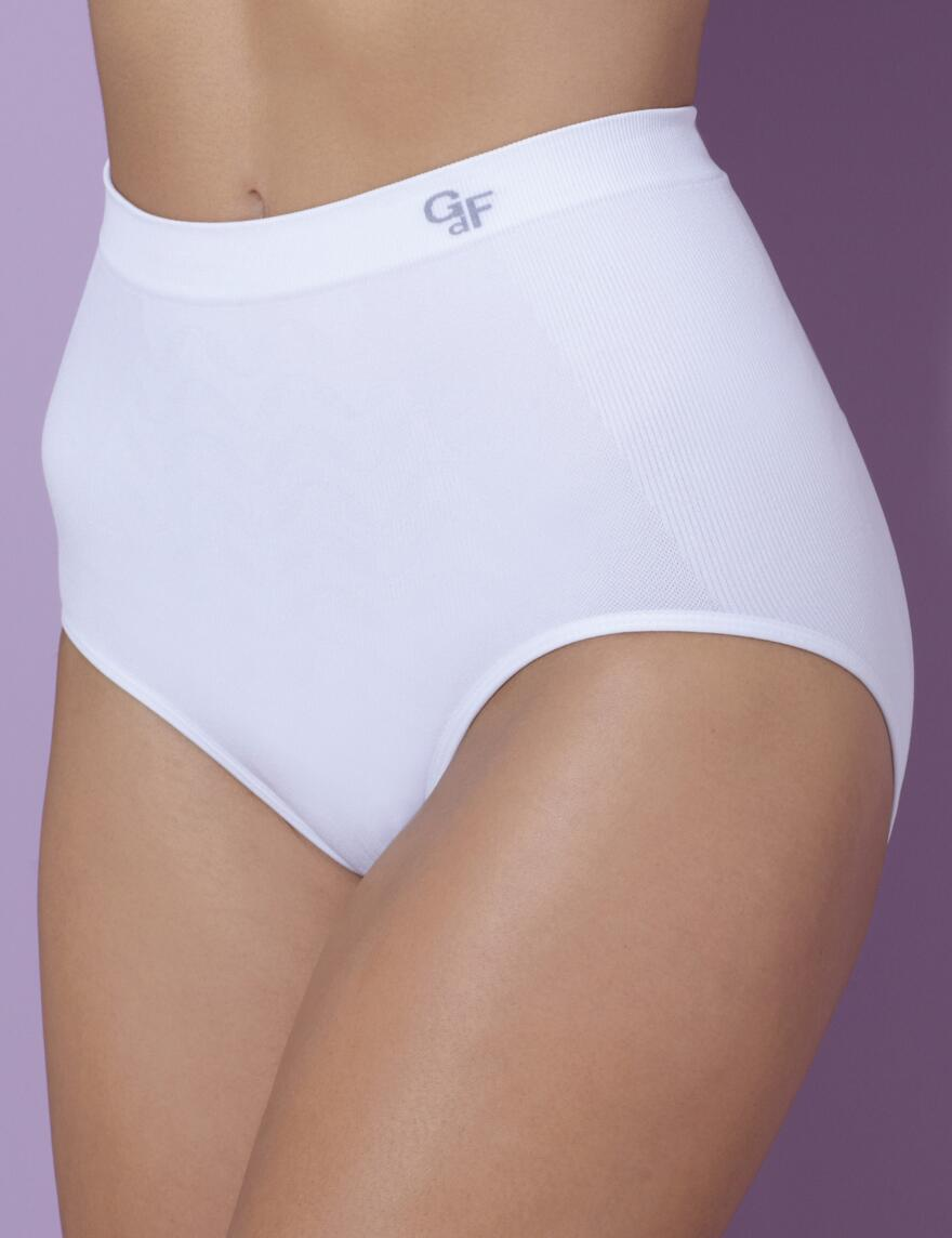 Daphne Seamless Control Briefs - 40601 - White
