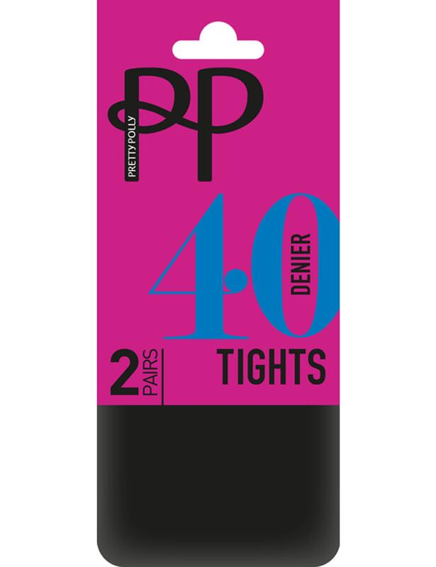 Pretty Polly 40 Denier Opaque Tights 2 Pack - Navy