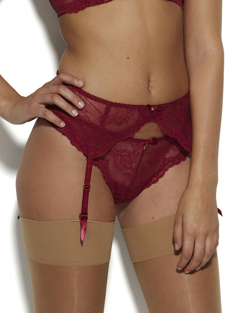 Gossard Superboost Lace Suspender - Ruby