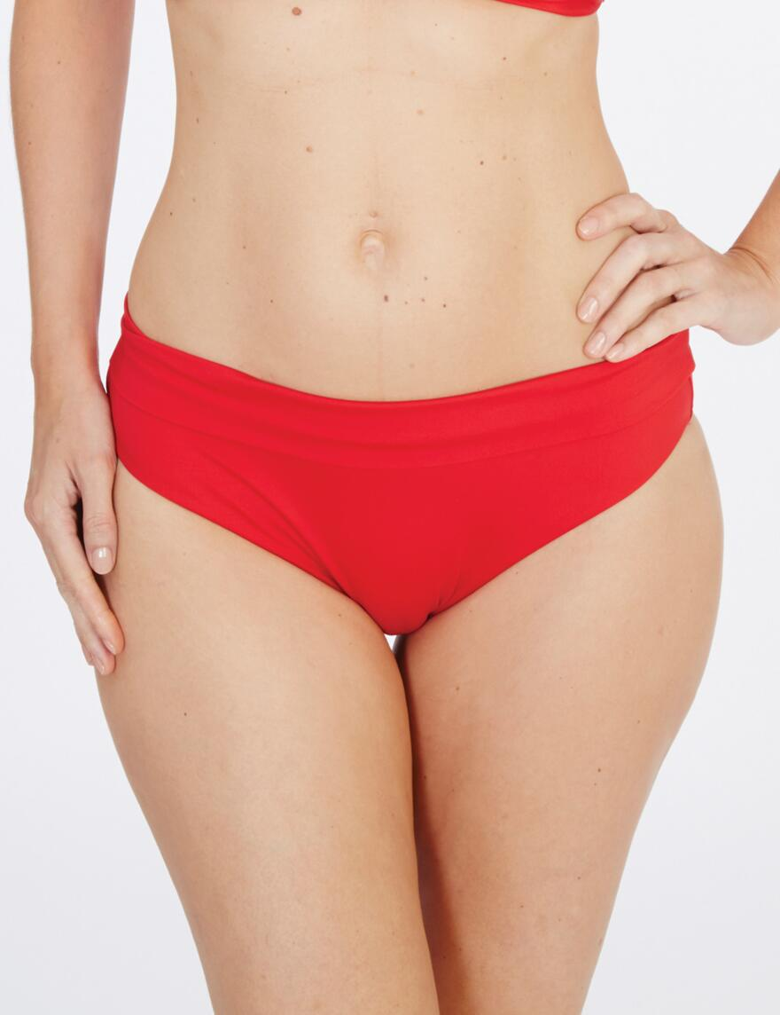 Lepel Lagoon Fold Top Bikini Bottoms  - Red