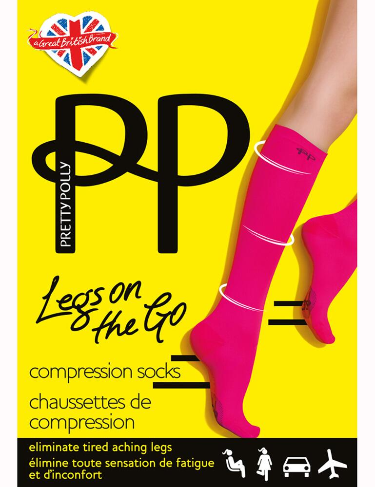 Pretty Polly Legs On The Go Compression Socks - Black