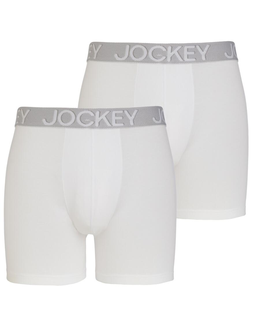 Jockey 3D Innovations Boxer Trunks 2215 - 2 Pack - White