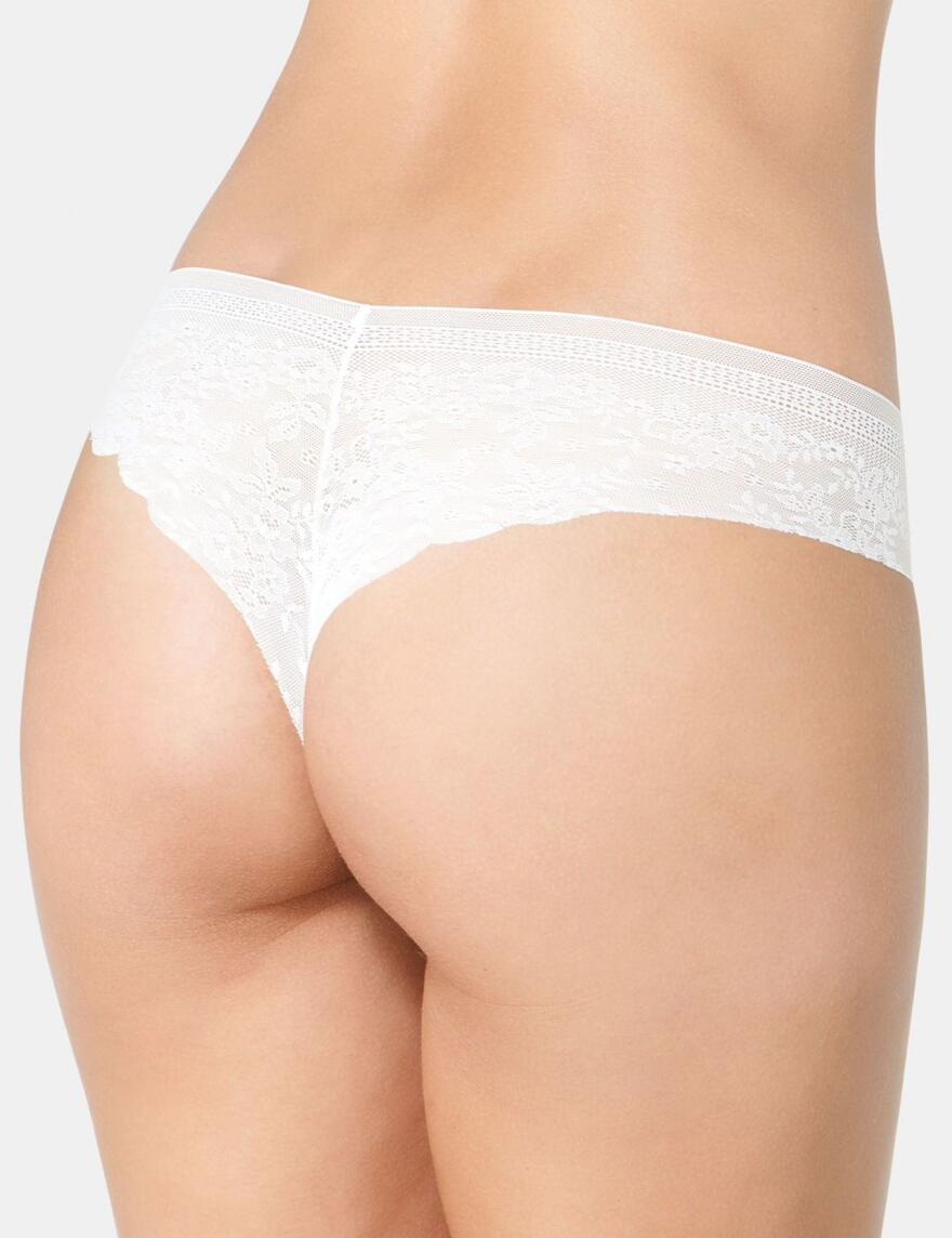 Sloggi Zero Feel Hip String Brief - Silk White
