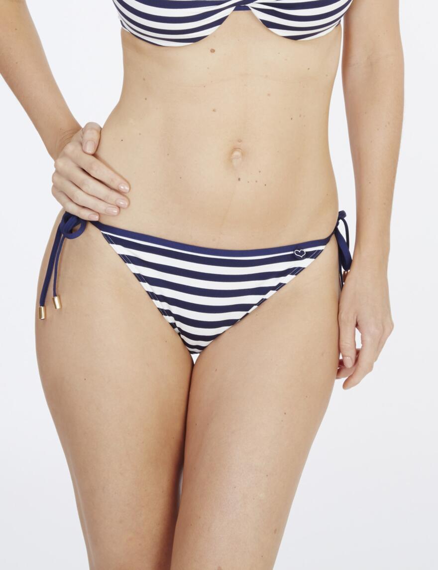 Lepel Beach Life Balconette Bikini Top - Navy Stripe