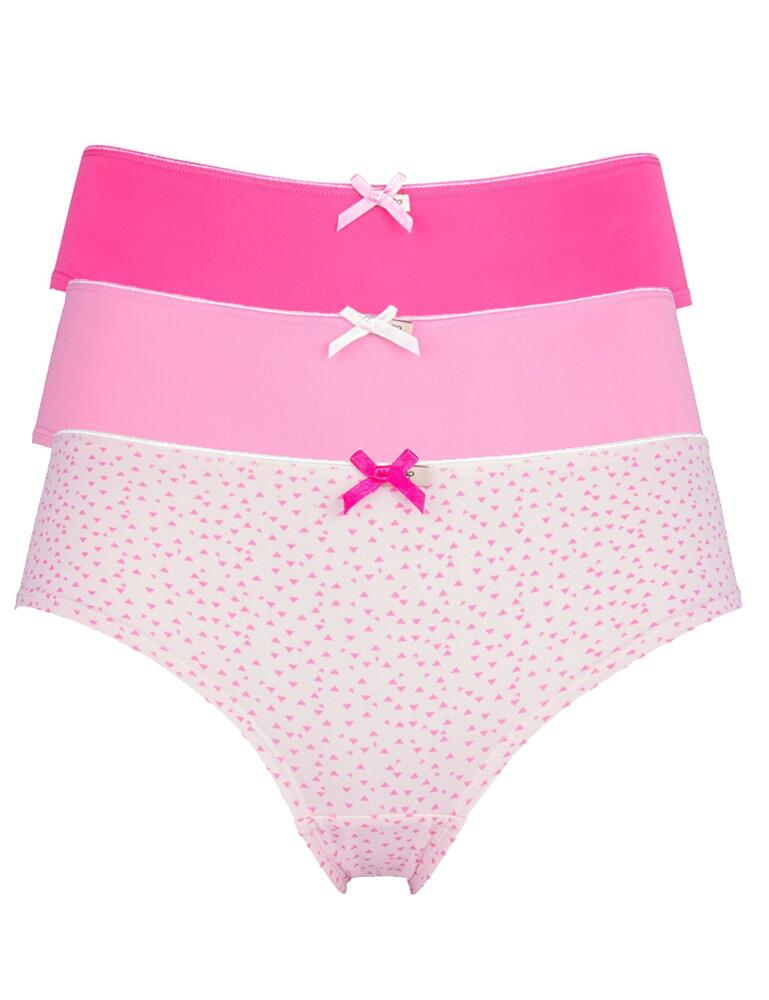 Pretty Polly Olivia Boy Short  - 3 Pack - Pink Mix