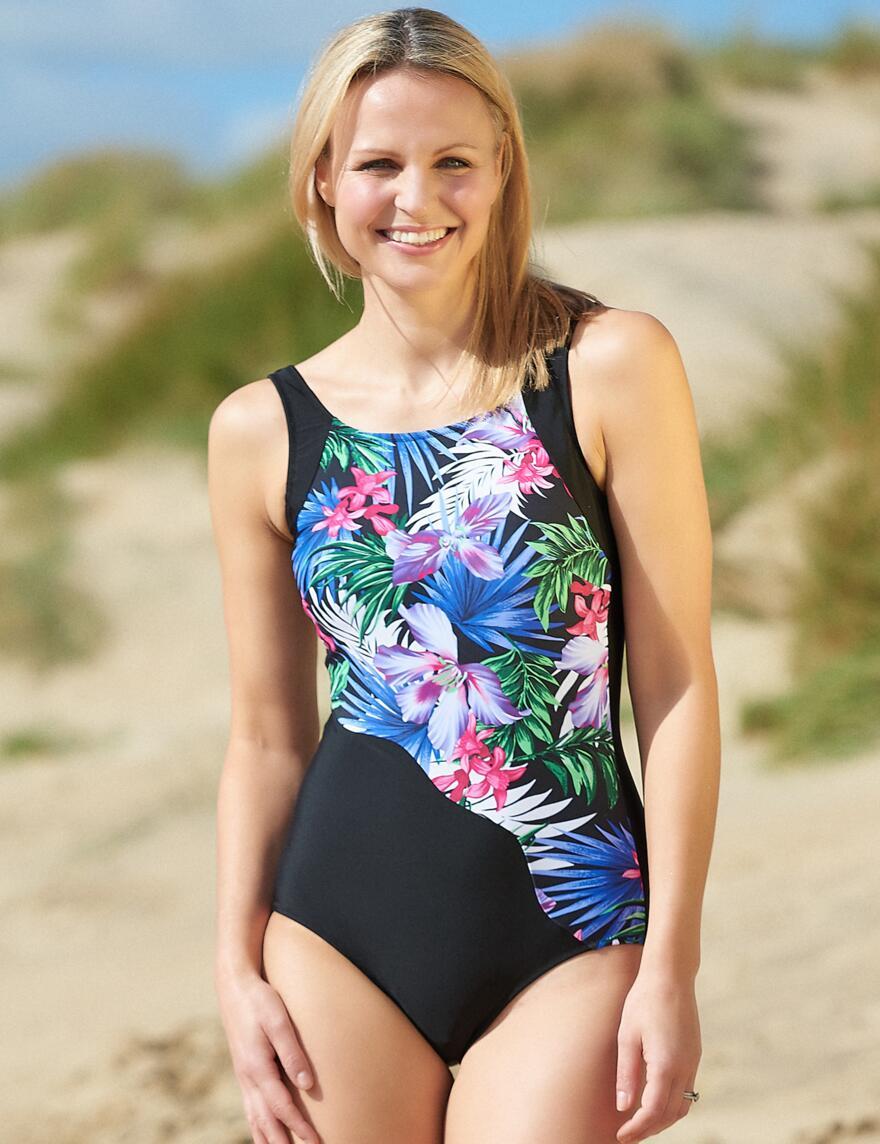 Nicola Jane Maui Bias Swimsuit - S815 - Multi