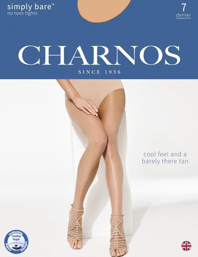 Charnos Simply Bare 7 Denier No Toes Tights- CATP - Natural Tan