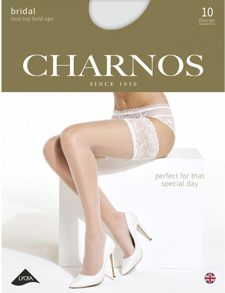 Charnos Bridal Lace Hold Ups - CBCJ - Champagne/Ivory