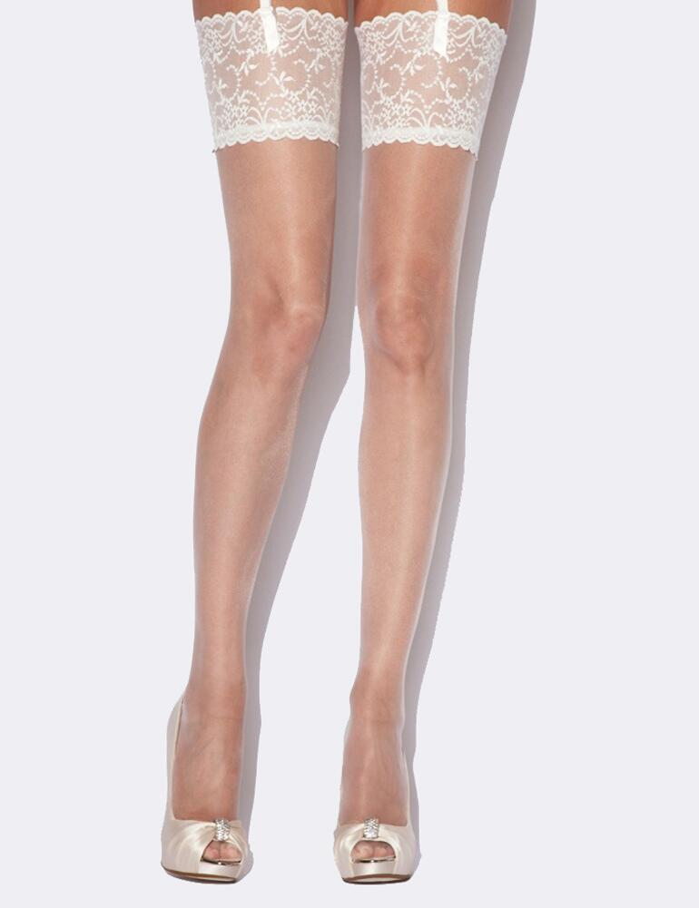 Charnos Bridal Lace Stockings - CCCP	 - Champagne/Ivory