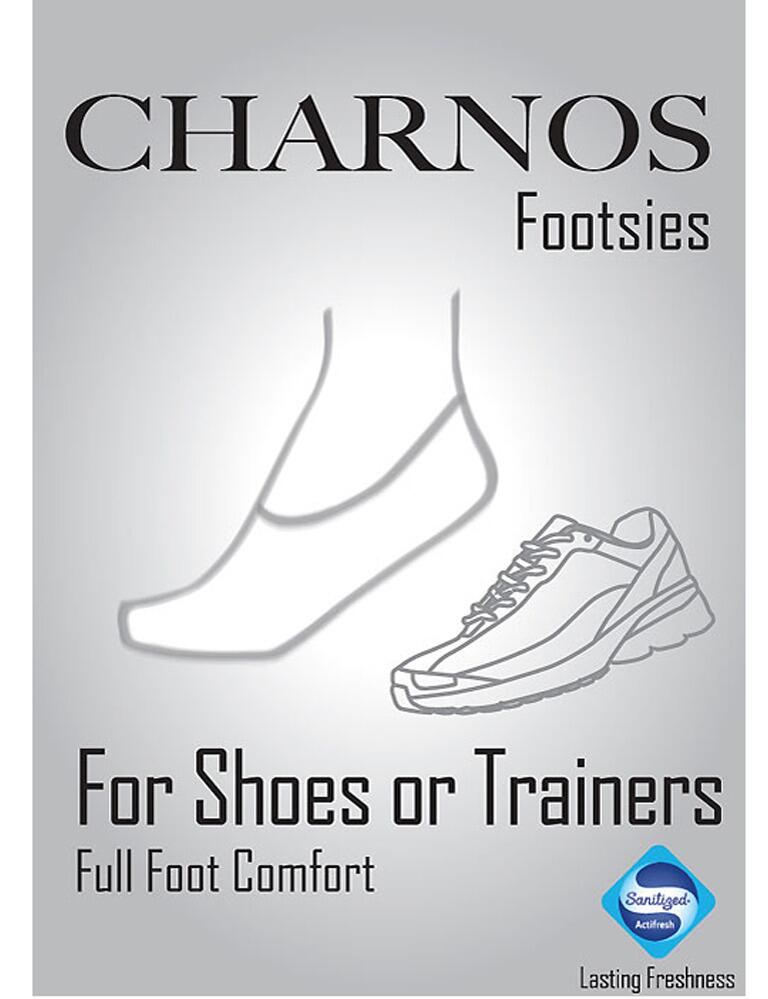 Charnos Footsies - Mens Trainer Socks - White