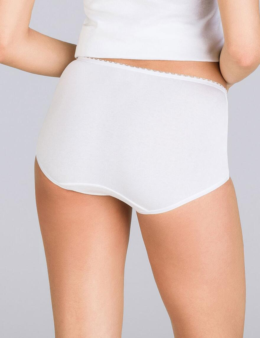Playtex Cotton Lift Body Control Briefs  - White