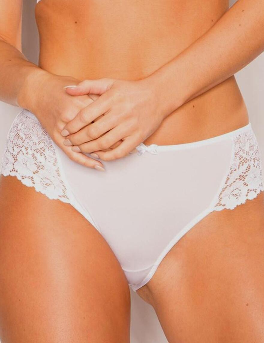 Pour Moi? Fever High Leg Brief - 44006 - White