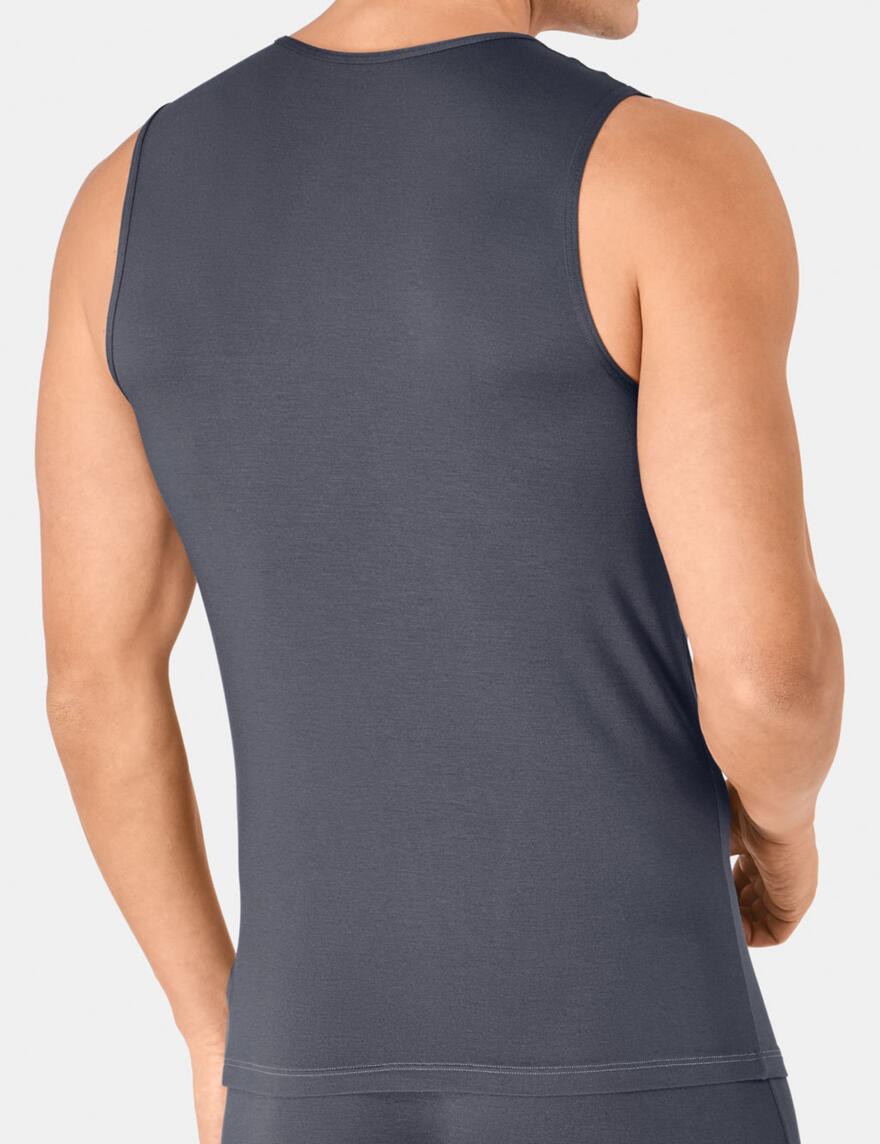 Sloggi Men Basic Soft Tank Top Vest- SH 02 - Dolphin Blue (00PN)