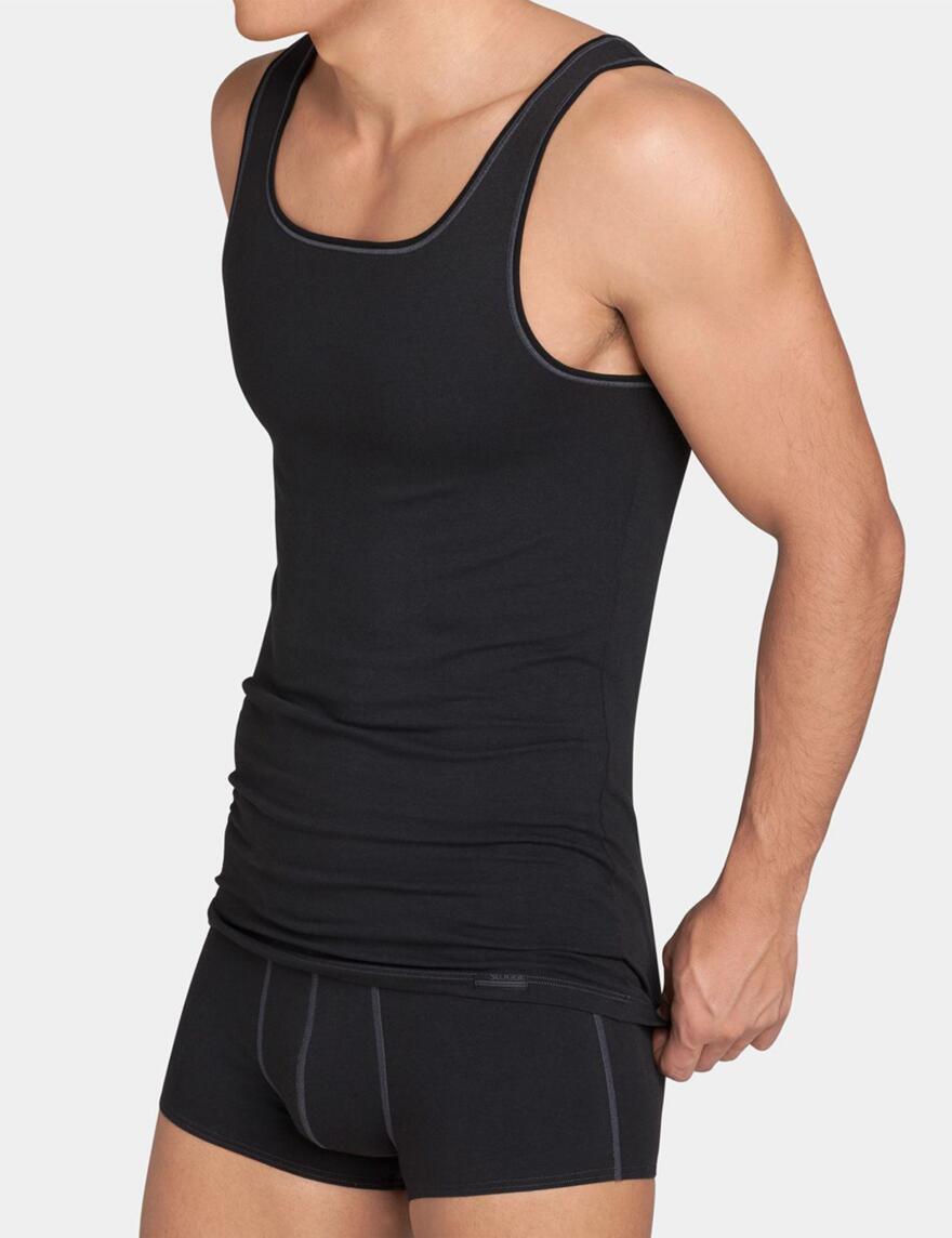 Sloggi Men Upgrade Sleeveless Vest- SH 02 - Black