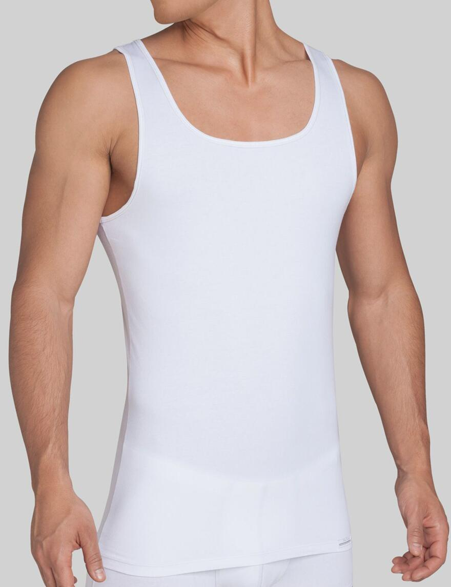 Sloggi Men Upgrade Sleeveless Vest- SH 02 - White